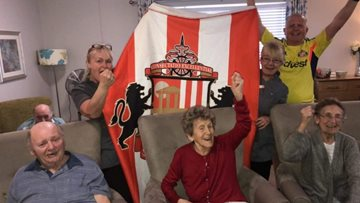 Sunderland care home supports local football team
