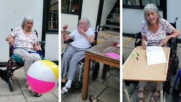 Surrey care home's garden games day