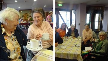 Community coffee morning raises £224 for Sandon House Residents' fund