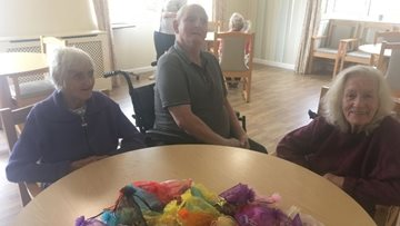 Homemade keyrings gifted to Bonnyrigg care home
