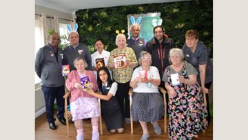 Hayes care home Residents received egg-cellent Easter surprise!