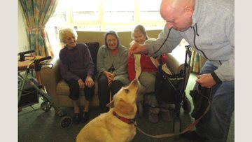 Pat Dog Poppy is the perfect therapy at Hartford Court