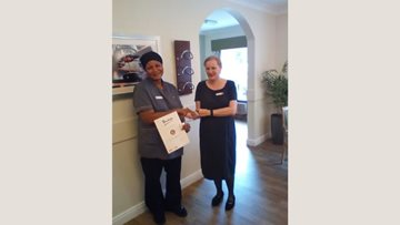 Colleague celebrates 15 years of service at Hodge Hill care home