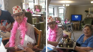 90 birthday candles at Hinckley care home