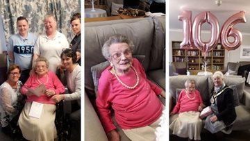 Centenarian celebrates 106th birthday at Hartlepool care home