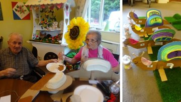 On your marks, get set…! Residents enjoy snail racing at Grimsby care home