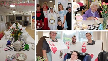 Bridgend care home hosts Mad Hatters Tea Party