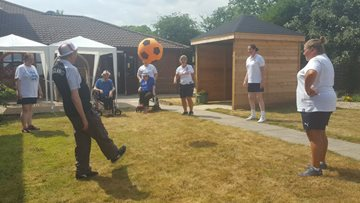 Football fever at Northwich care home