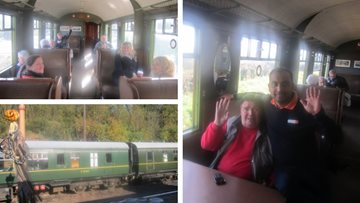 All aboard! Residents tour the Severn Valley