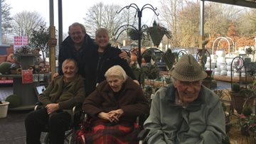 Residents at Bankwood Care Home visit local garden centre