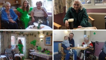 Essex care home celebrates St. Patricks Day with Irish coffee morning