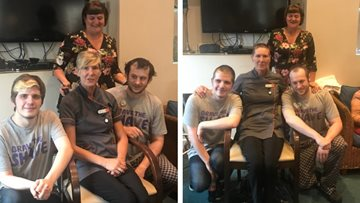 Stalybridge care home braves the shave to raise £500 for Macmillan Cancer Support