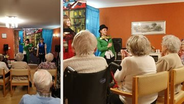 Pantomime delights at North Shields care home