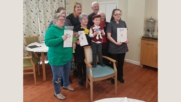 Llys Newydd Residents celebrate St David's Day surrounded by family and friends