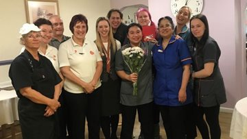 Ten years' long service celebrated at Ilkeston care home