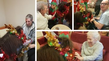 Festive pony visit at Manchester care home