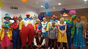 Local Care Home parties with a Walt Disney theme