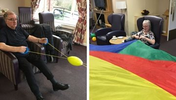 Fife care home Residents enjoy a socially distanced games afternoon