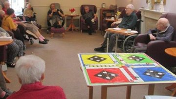 Residents enjoy nostalgic games afternoon at Roundhay care home
