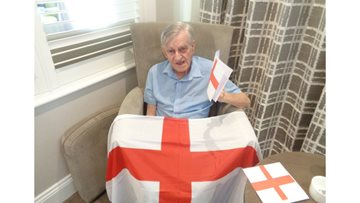 Football fever at Newton Aycliffe care home