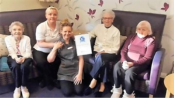 Kinnaird Manor Care Home enjoys success in Care Inspectorate report