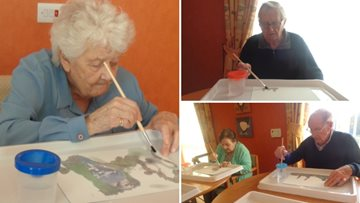 Residents create masterpieces at Redcar care home
