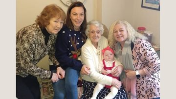 Five generations come together at Consett care home