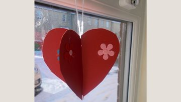Valentine's Day crafts and celebrations at County Durham care home