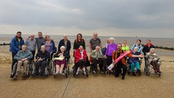 Cambridge care home Residents enjoy seaside trip