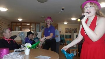Musical story-telling is a success at Salford care home