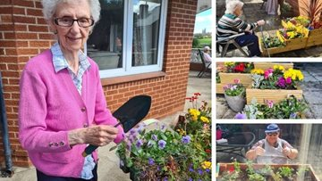 Spending time in the Sheffield care home garden