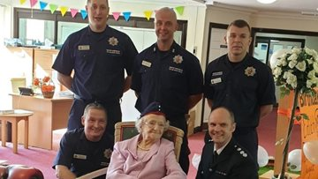 100 birthday candles as Bolton care home Resident celebrates special day