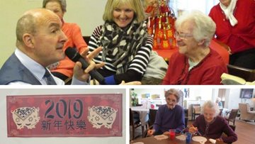 Chinese New Year celebrations at Kirkby care home