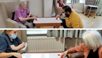 Fundraising at River Court brings air hockey table