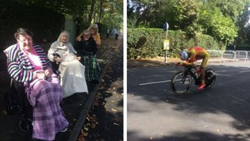 World cycling excitement for Harrogate care home