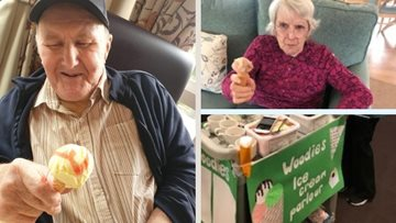 Glenrothes care home Residents enjoy ice cream parlour treats