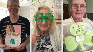 St Patrick's Day celebrations at Bonnyrigg care home