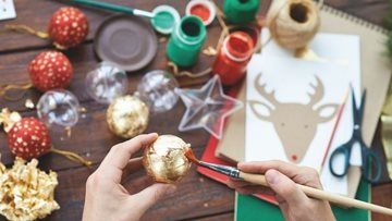 Christmas crafts at Kirkby House