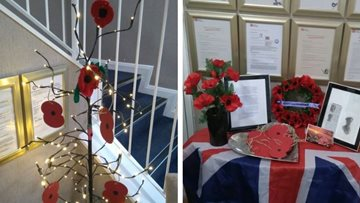 April Park Residents create Remembrance Display