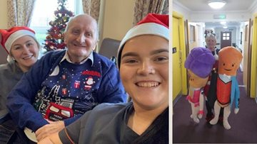 Christmas Day at Greenock care home
