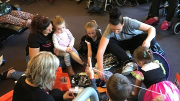 Young meets old at Cardiff care home