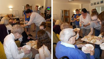Old meets young at Ramsey care home