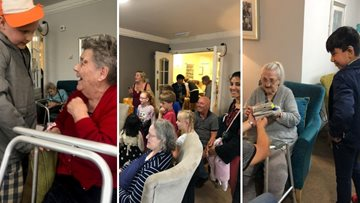 Parker Trust form a special bond with the Residents of Pallion care home