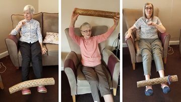 Glenrothes care home Residents take part in Active Fife programme