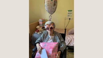 93rd birthday Skype celebrations at Spennymoor care home