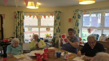Arts and crafts takes a lovely twist at Mountain Ash care home