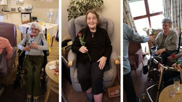 Valentine's Day celebrations at Kirkcaldy care home