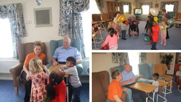 Young meets old at Romford care home