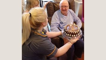 Birthday celebrations at Harefield care home