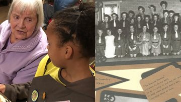 Brownies young and old share their experiences at care home